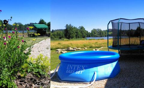 Nová zahrada a bazén